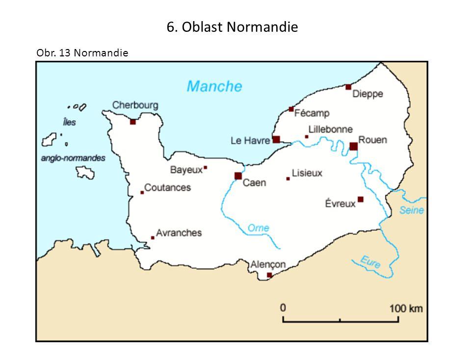 6. Oblast Normandie Obr. 13 Normandie