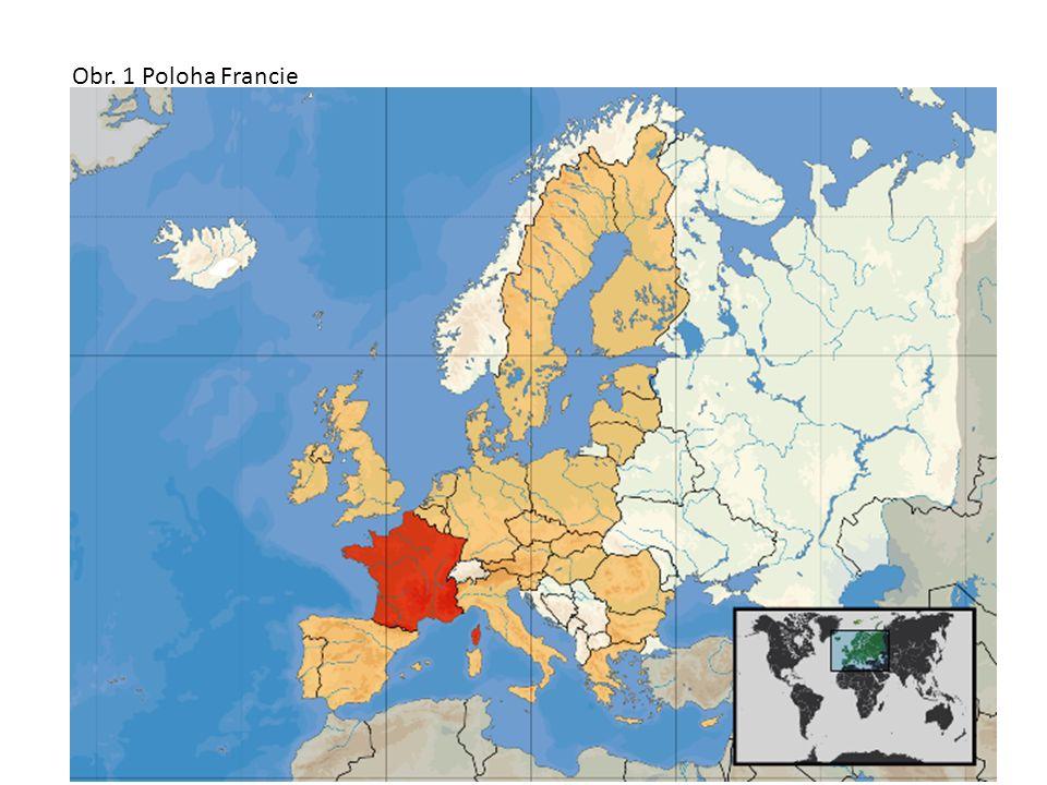hranice ŠPANĚLSKO ITÁLIE NĚMECKO ŠVÝCARSKO LUCEMBURSKO BELGIE MONAKO ANDORRA Obr. 2 hranice