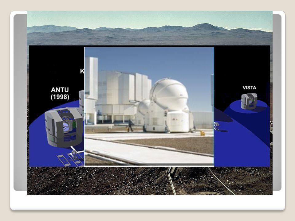 Největší pozemský dalekohled v současnosti tvoří čtyři samostatné teleskopy s průměrem zrcadla 8 metrů.