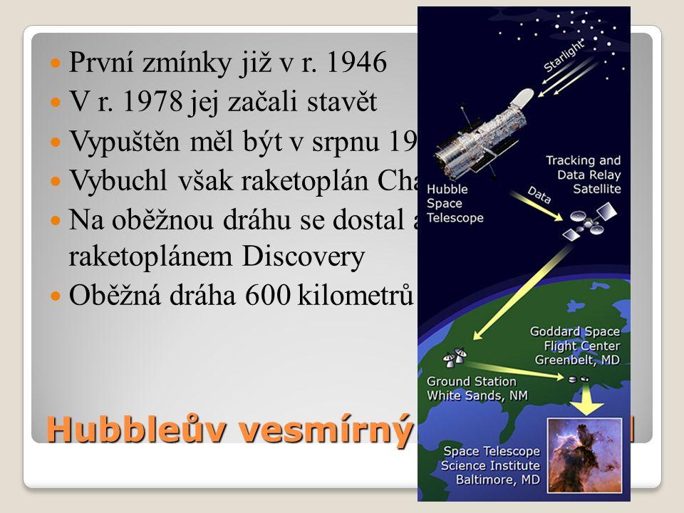 Hubbleův vesmírný dalekohled První zmínky již v r.