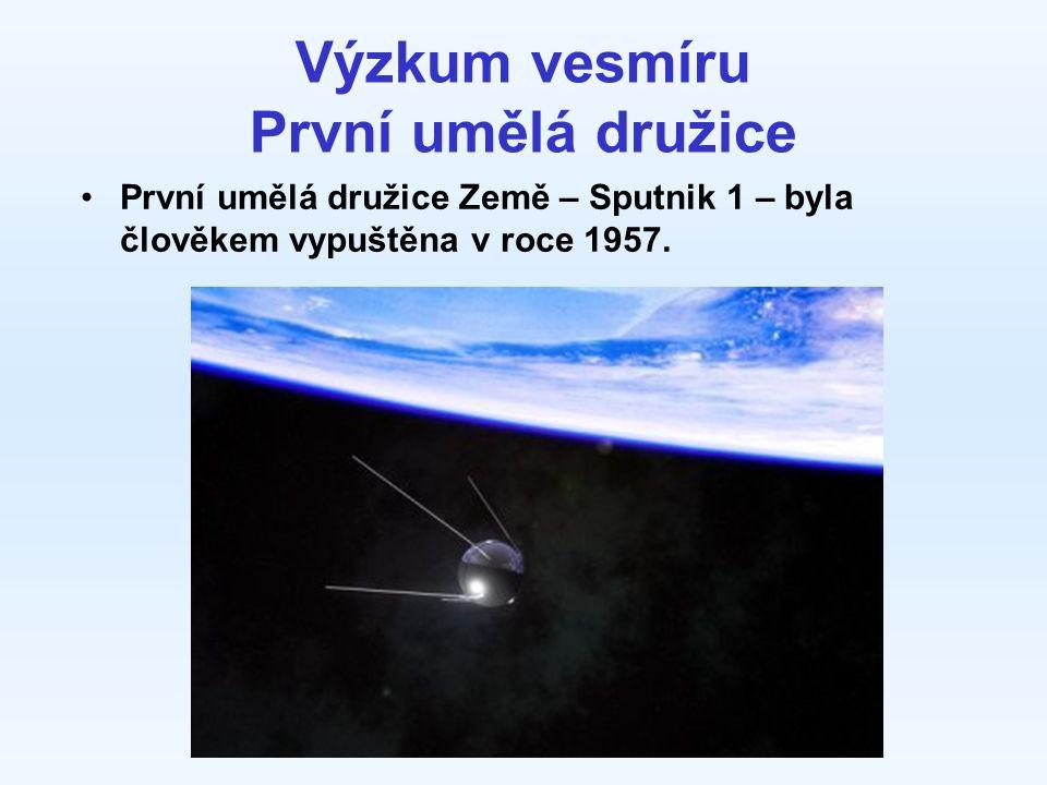 Výzkum vesmíru První umělá družice První umělá družice Země – Sputnik 1 – byla člověkem vypuštěna v roce 1957.