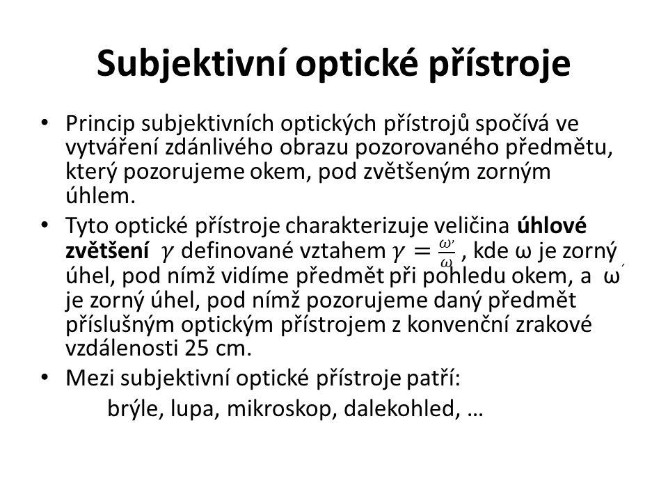 Subjektivní optické přístroje
