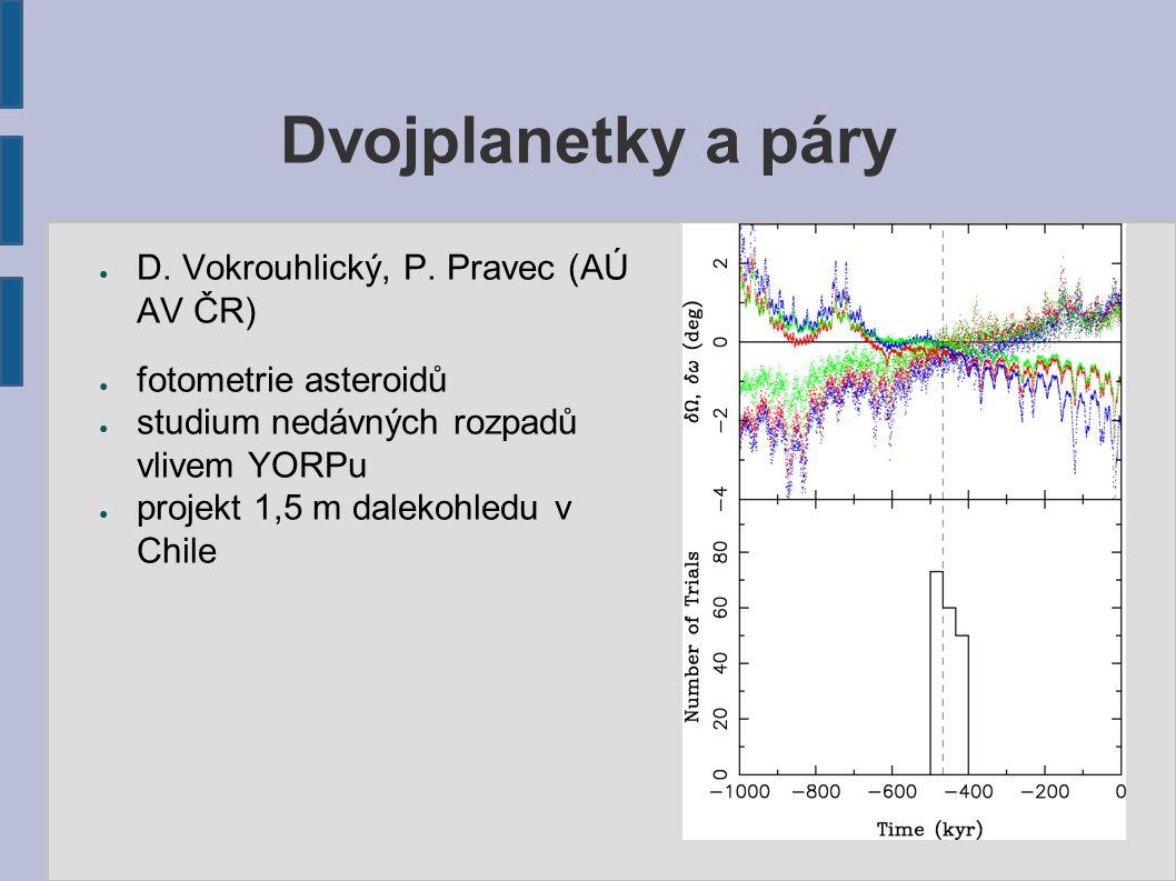 Dvojplanetky a páry ● D. Vokrouhlický, P.