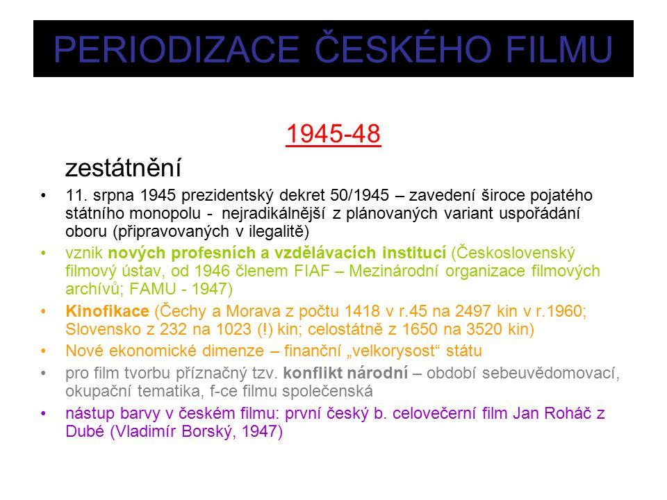 PERIODIZACE ČESKÉHO FILMU 1945-48 zestátnění 11.