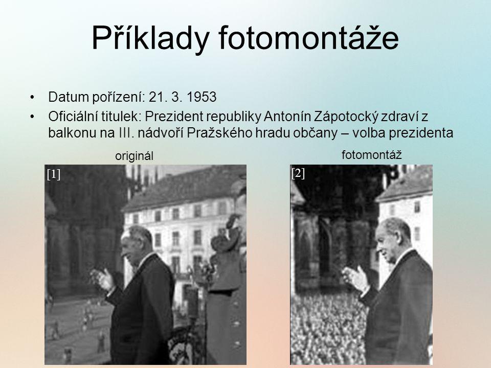Příklady fotomontáže Datum pořízení: 21. 3.