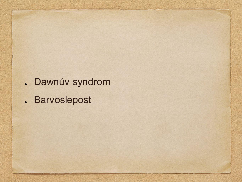 Dawnův syndrom Barvoslepost