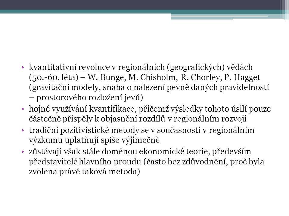 kvantitativní revoluce v regionálních (geografických) vědách (50.-60.