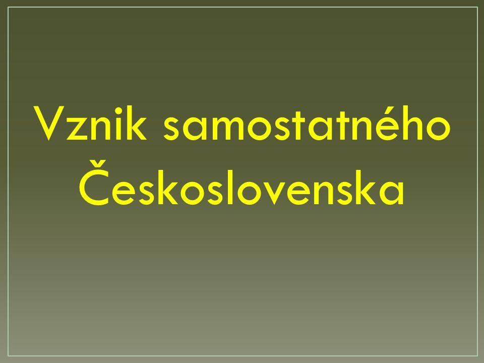 Vznik samostatného Československa
