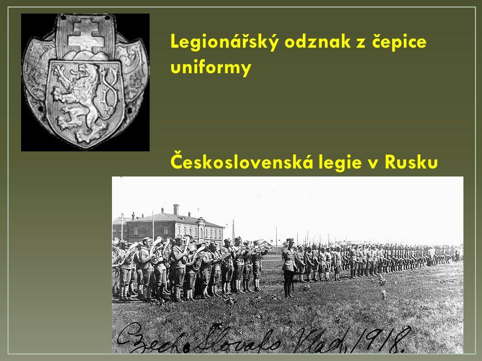 Československá legie v Rusku Legionářský odznak z čepice uniformy