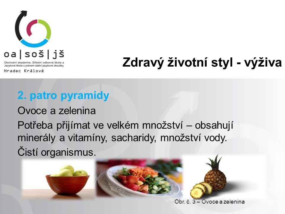 Zdravý životní styl - výživa 3.patro pyramidy Mléko, mléčné výrobky, maso, masné výrobky, ryby, vejce, luštěniny.