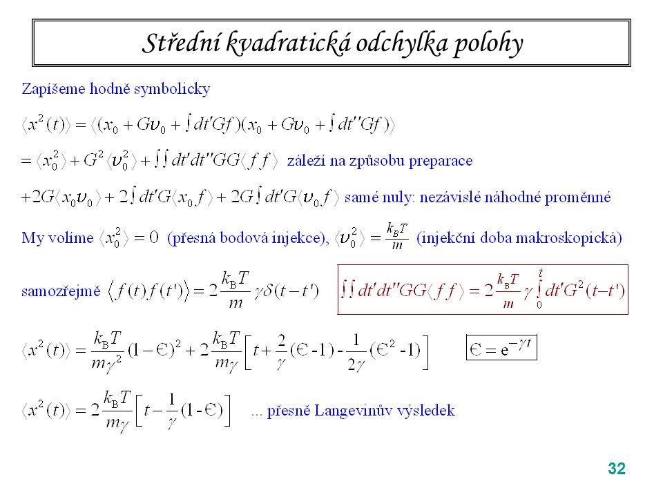 Střední kvadratická odchylka polohy 32