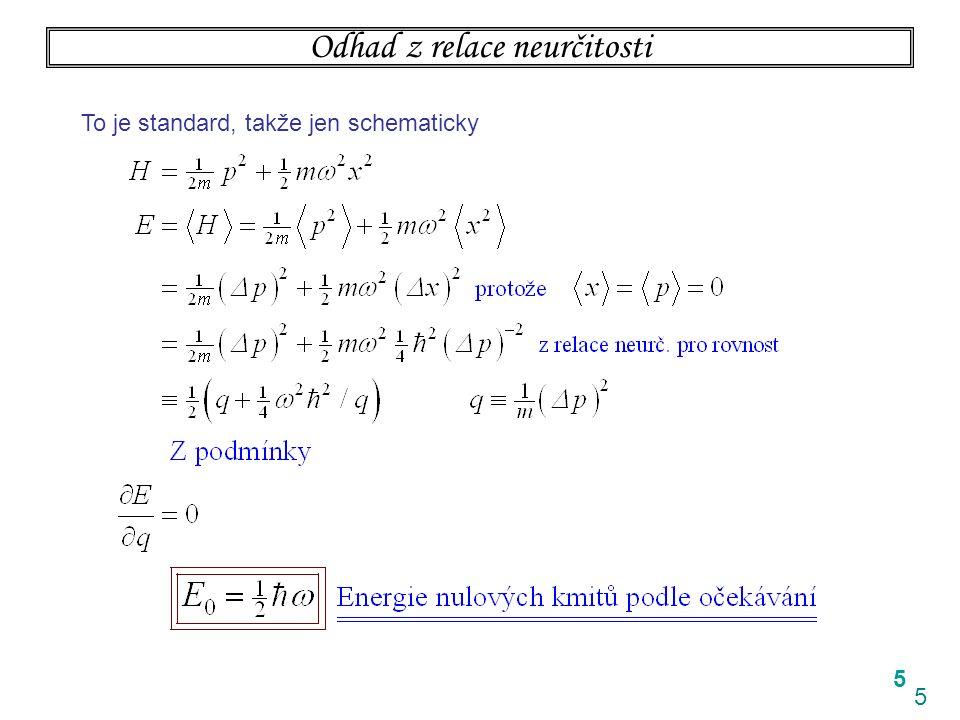 5 5 Odhad z relace neurčitosti To je standard, takže jen schematicky