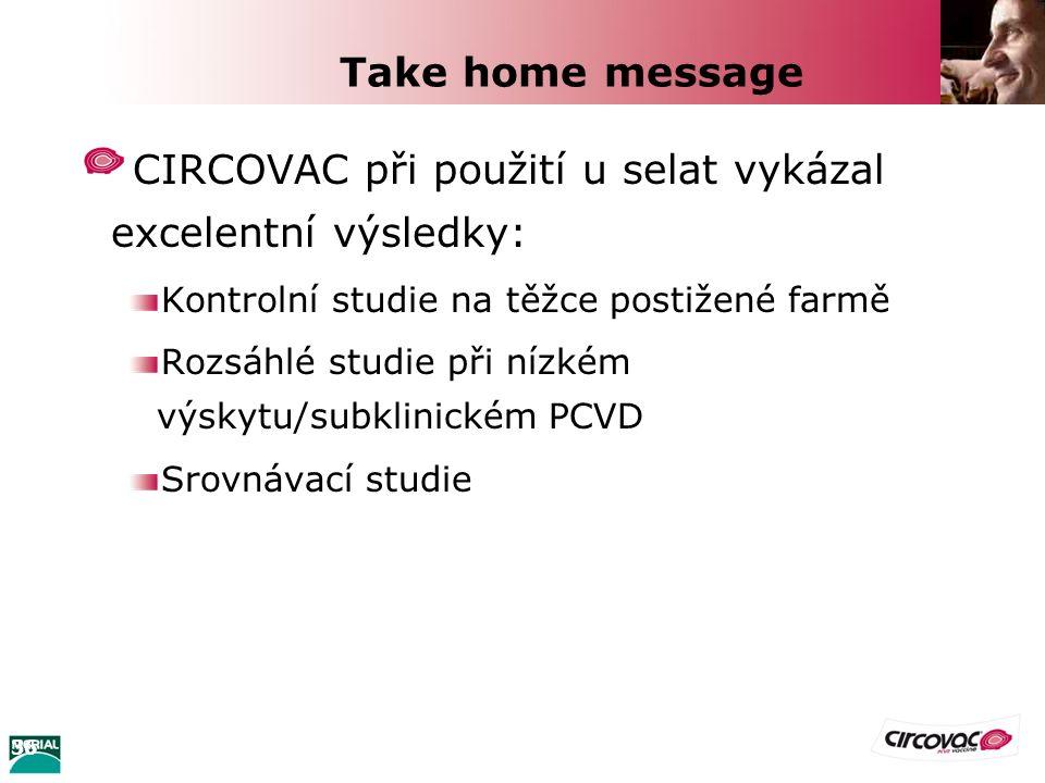 36 Take home message CIRCOVAC při použití u selat vykázal excelentní výsledky: Kontrolní studie na těžce postižené farmě Rozsáhlé studie při nízkém vý