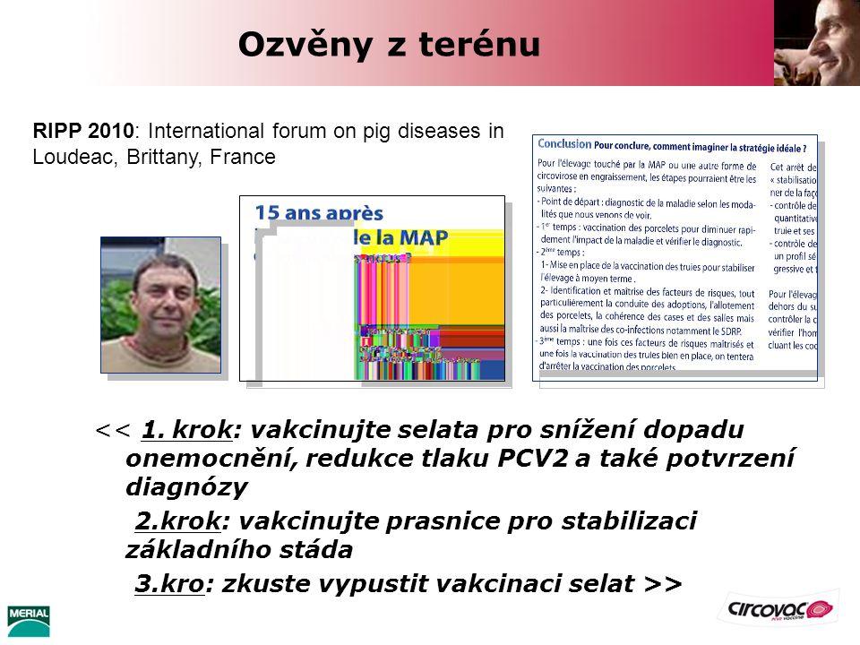 Ozvěny z terénu << 1. krok: vakcinujte selata pro snížení dopadu onemocnění, redukce tlaku PCV2 a také potvrzení diagnózy 2.krok: vakcinujte prasnice