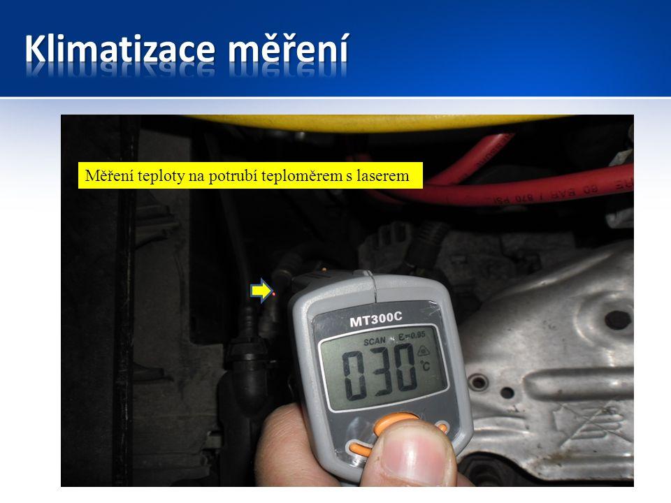 Měření teploty na potrubí teploměrem s laserem