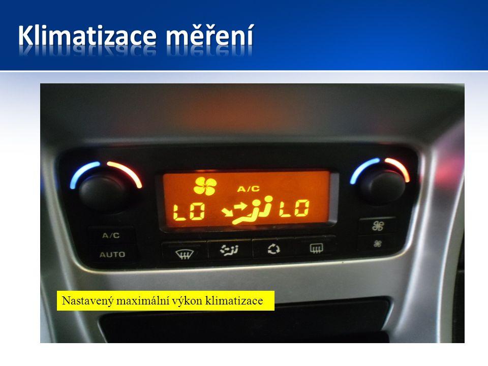 Nastavený maximální výkon klimatizace