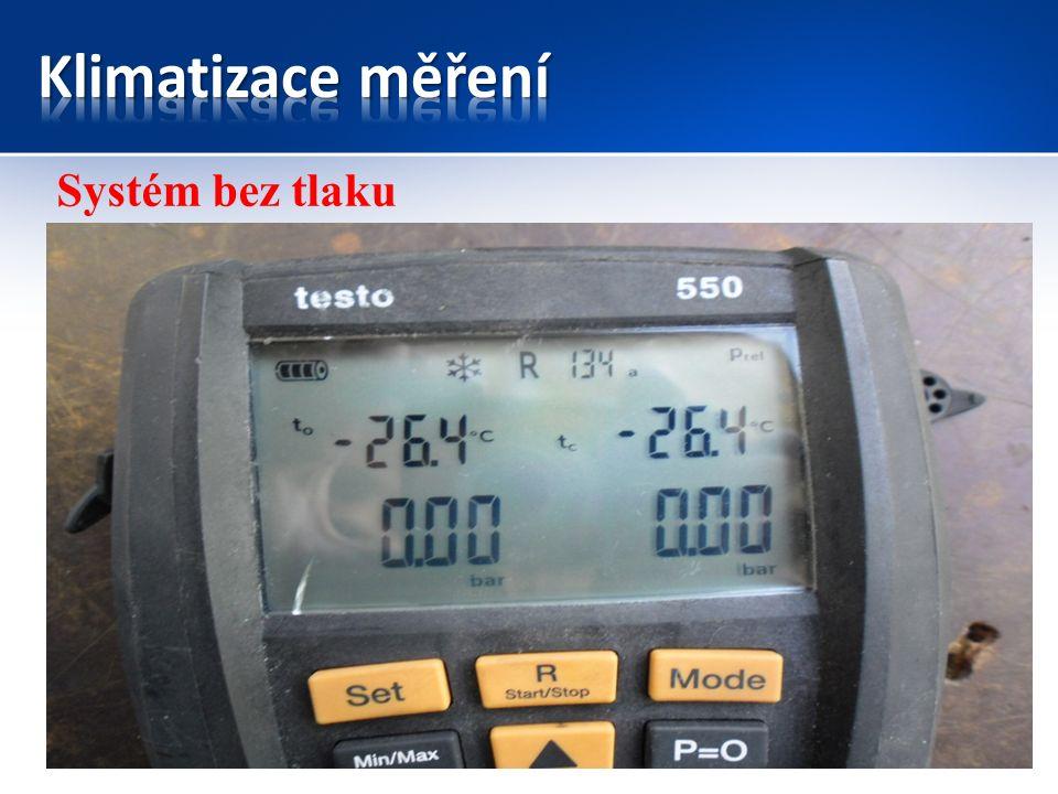 KompresorKondenzátor Expanzní ventil/ tryska Výparník Náporový vzduch Motorový prostor vnitřní prostor řidiče Směr jízdy Systém s vyrovnanými tlaky = klidový stav Filtr vysoušeč Vzduch z ventilátoru topení