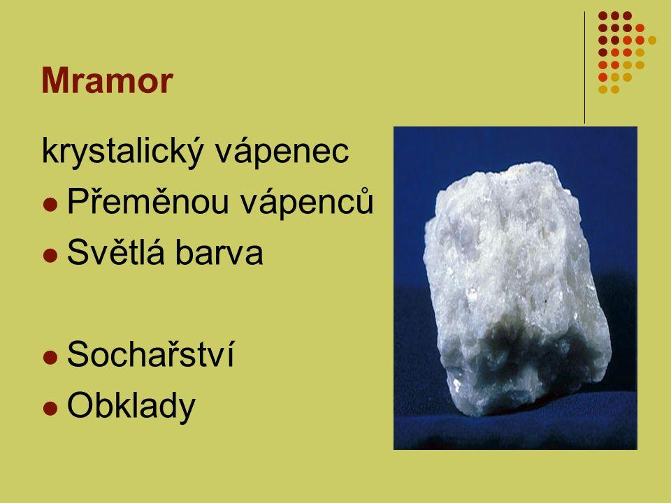 Mramor krystalický vápenec Přeměnou vápenců Světlá barva Sochařství Obklady