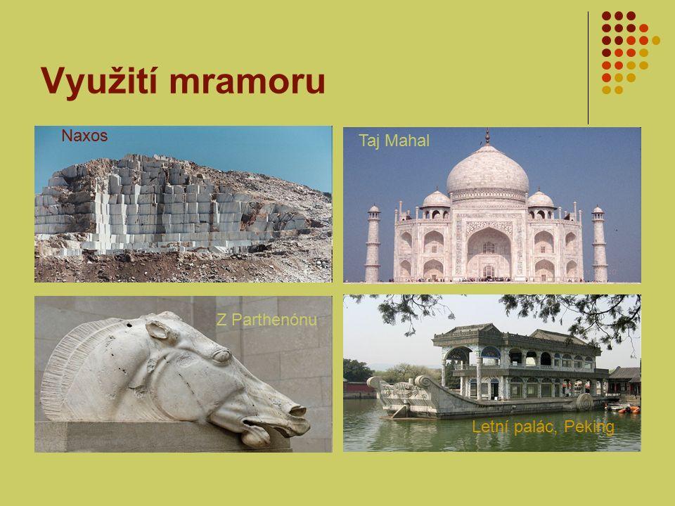 Využití mramoru Naxos Taj Mahal Z Parthenónu Letní palác, Peking