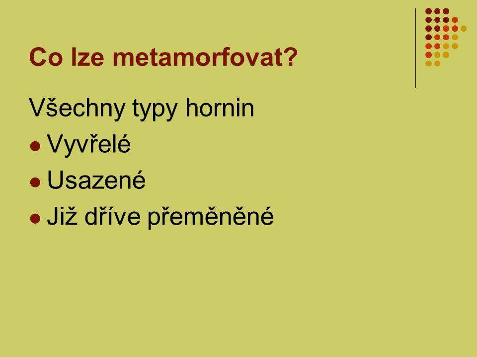 Druhy metamorfózy 1.