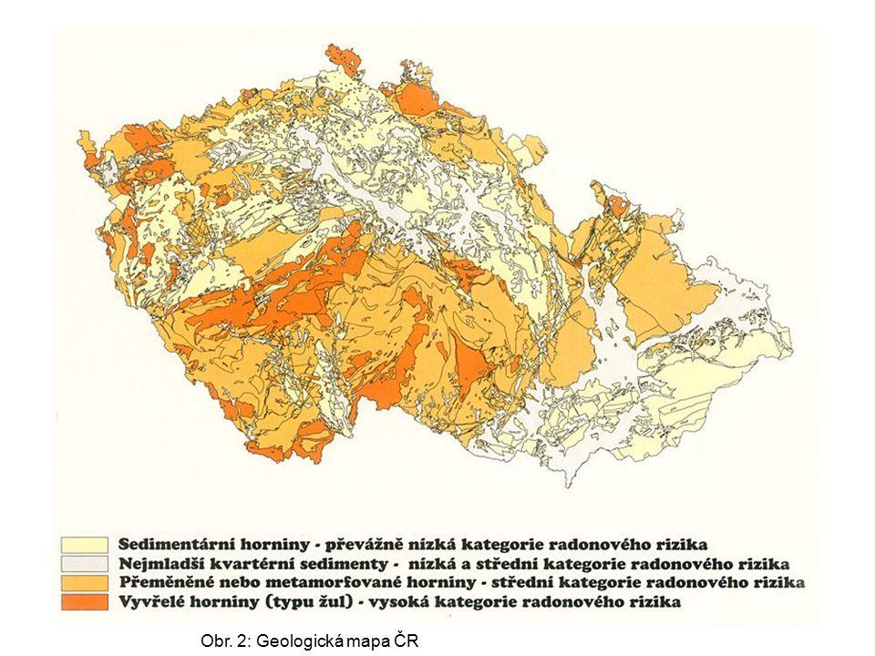 Obr. 2: Geologická mapa ČR