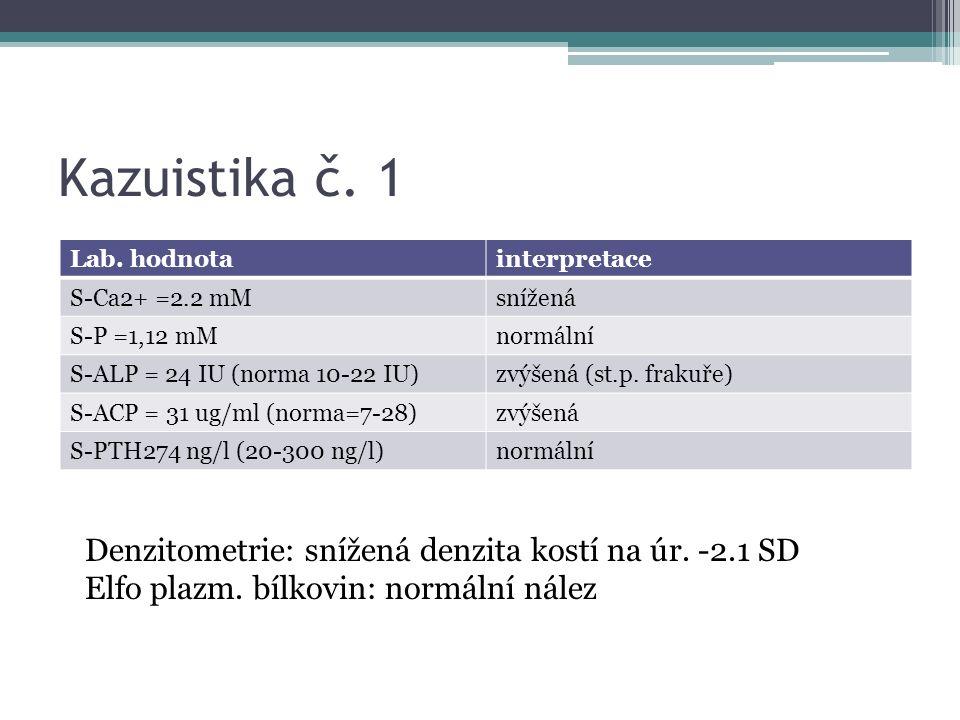 Kazuistika č. 1 Lab.
