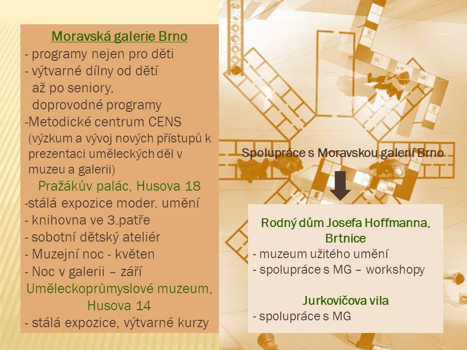 Moravská galerie Brno - programy nejen pro děti - výtvarné dílny od dětí až po seniory, doprovodné programy -Metodické centrum CENS (výzkum a vývoj no