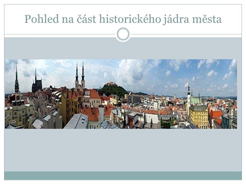 Pohled na část historického jádra města