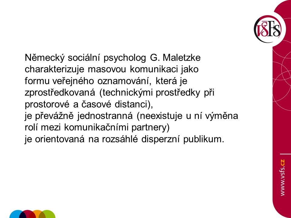 Německý sociální psycholog G.