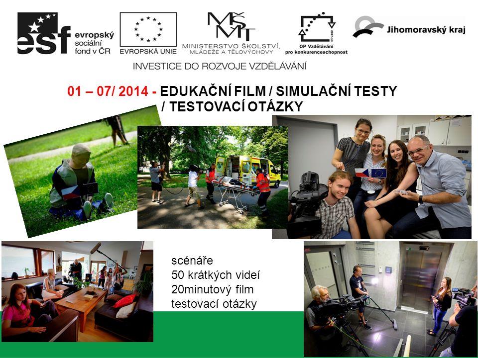 www.projekthobit.cz 6 07 – 09 / 2014 - WEBOVÉ STRÁNKY / TESTOVACÍ APLIKACE / TESTOVACÍ OTÁZKY Testovací aplikace Finalizace testovacích otázek Pilotní testování Úprava testovací aplikace, úprava otázek