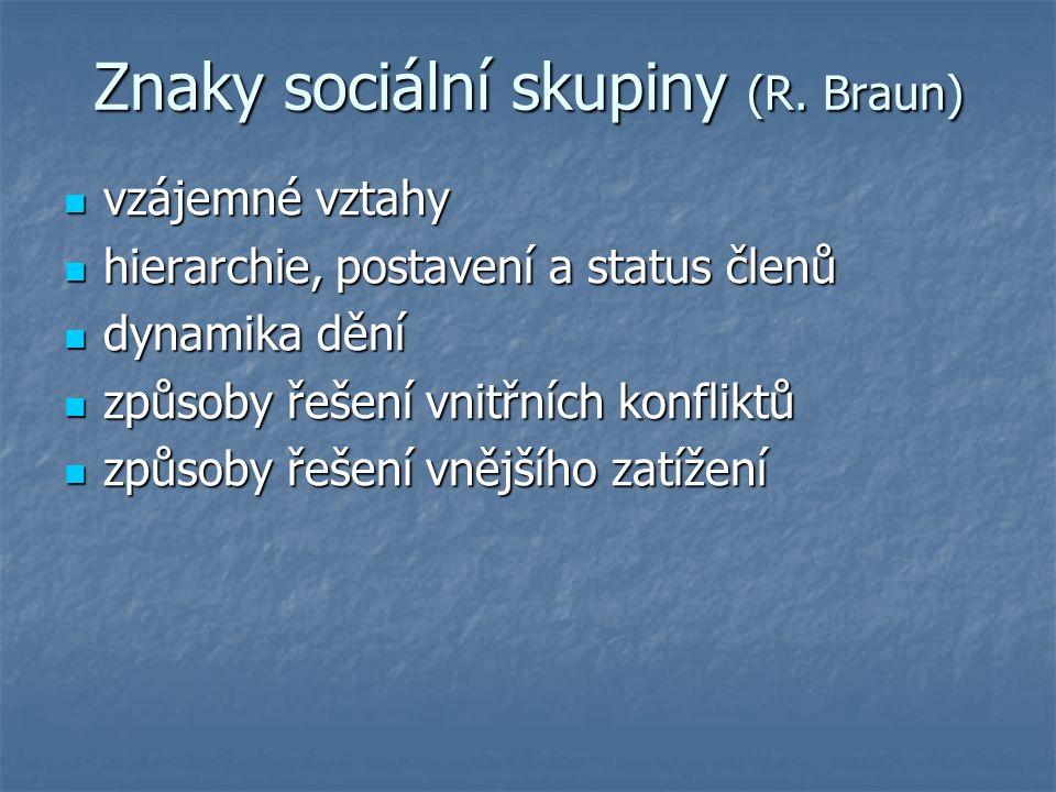 Znaky sociální skupiny (R.