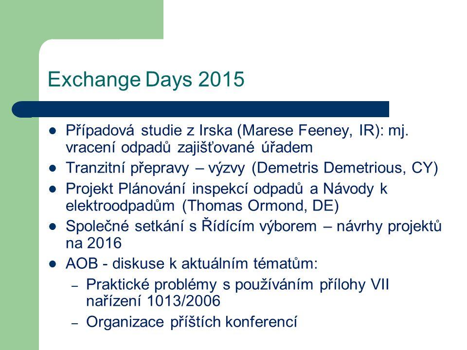 Případová studie z Irska (Marese Feeney, IR): mj. vracení odpadů zajišťované úřadem Tranzitní přepravy – výzvy (Demetris Demetrious, CY) Projekt Pláno