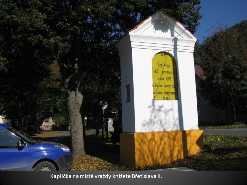 Pod námi je Zbečno, Masarykův most, vesnice v pozadí je Újezd nad Zbečnem.