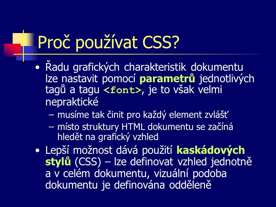 Proč používat CSS.