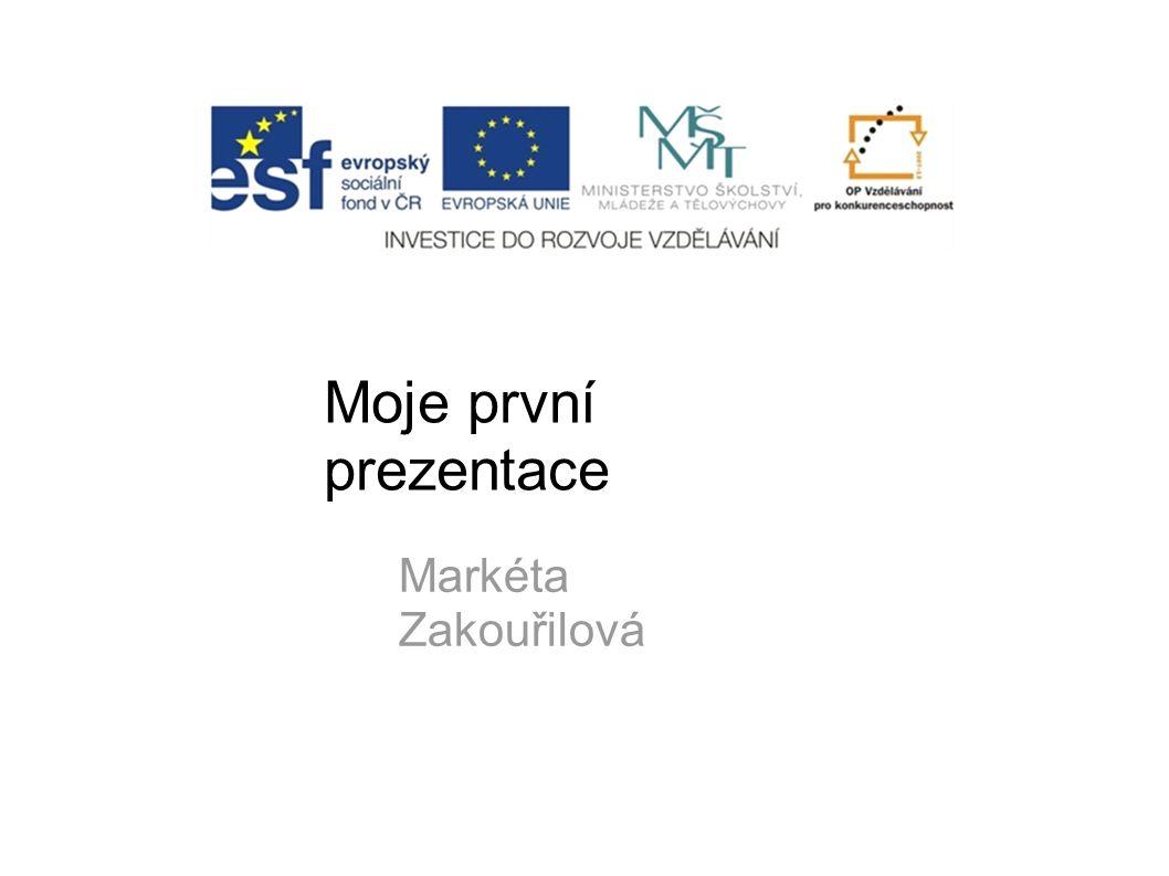 Moje první prezentace Markéta Zakouřilová