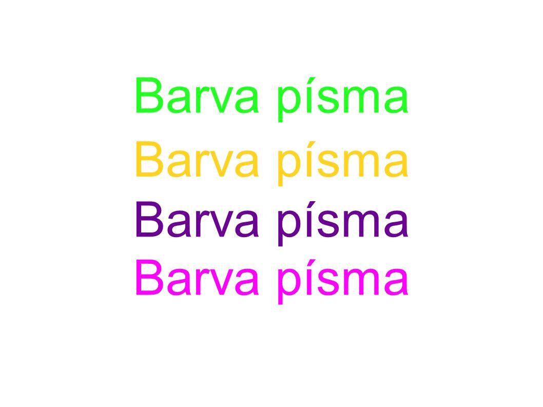 Formát – Oblast - Barva