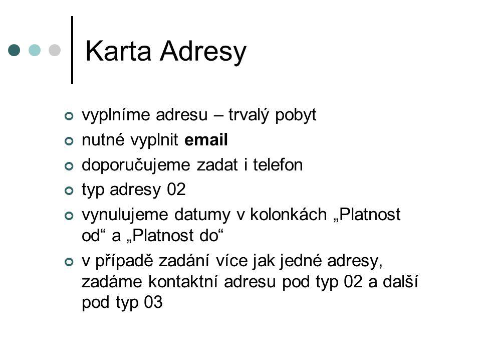 Karta Adresy