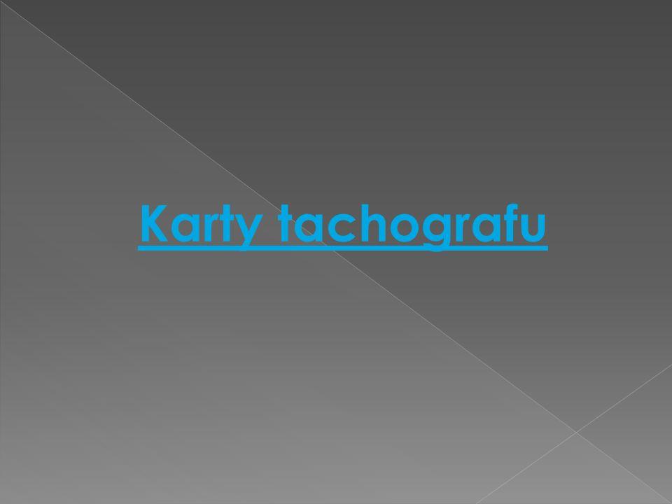 Karty tachografu