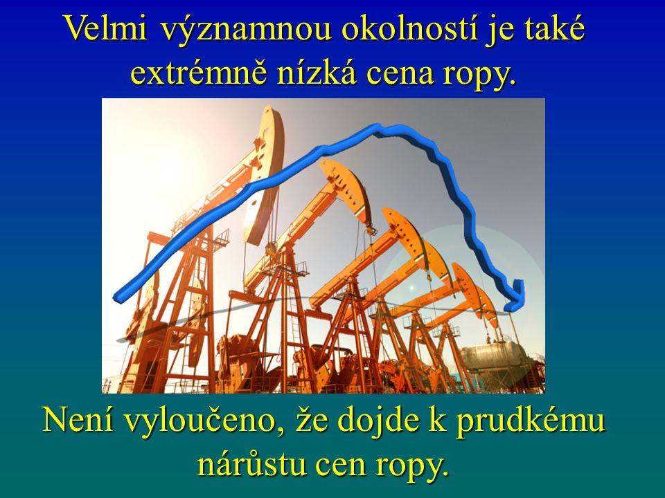 Velmi významnou okolností je také extrémně nízká cena ropy.