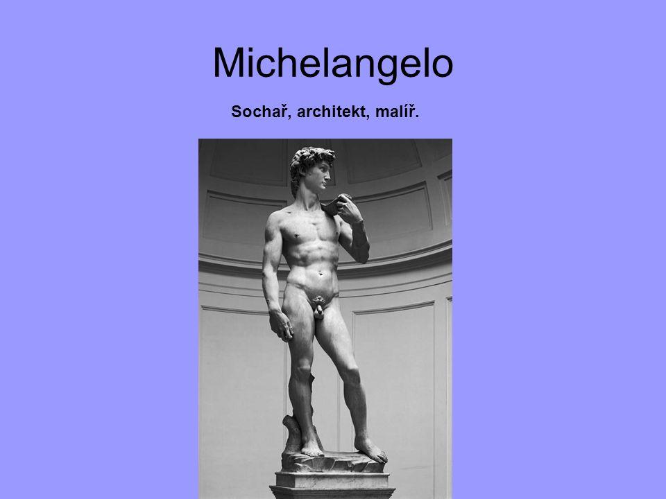 Michelangelo Sochař, architekt, malíř.
