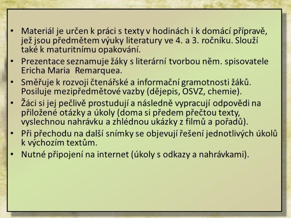 Úkoly k výchozímu textu 4 1.Vymyslete vlastní název pro daný text.