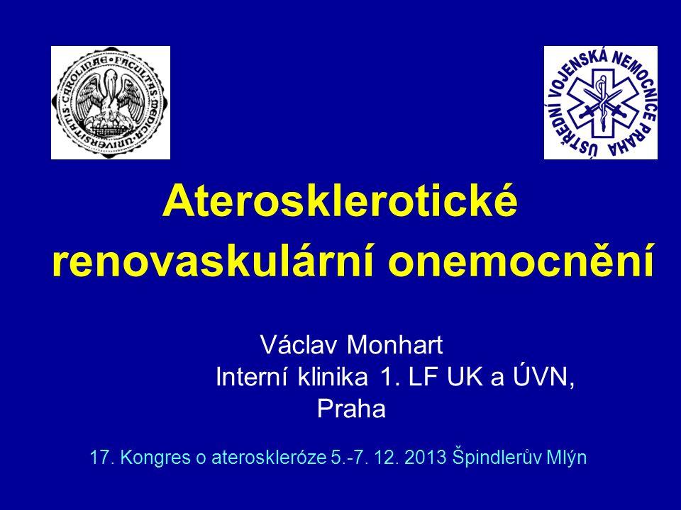 Aterosklerotické renovaskulární onemocnění 17.Kongres o ateroskleróze 5.-7.