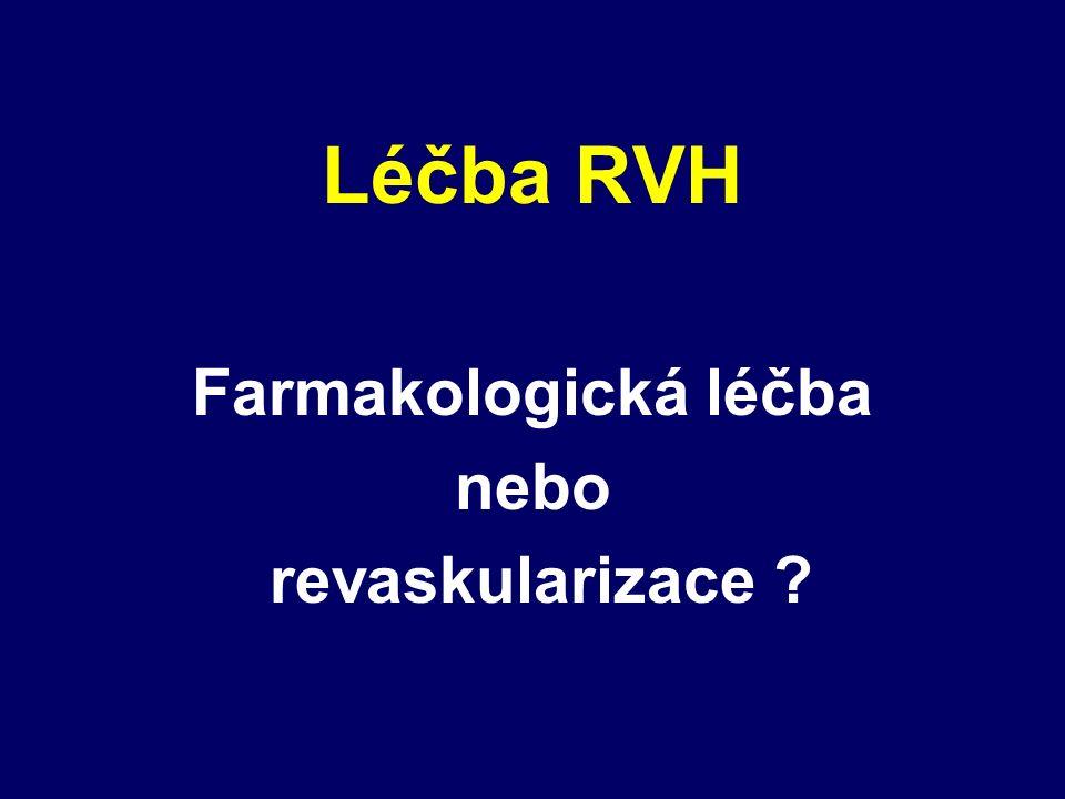 Léčba RVH Farmakologická léčba nebo revaskularizace