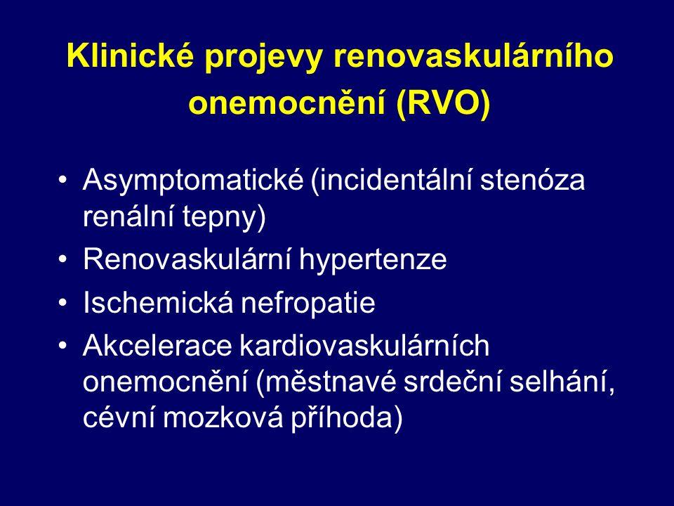 Kombinační antihypertenzivní léčba Inhibitory ACE/AT 1 blokátory Blokátory kalciových kanálů Diuretika Centrálně působící (agonisté imidaz.recept.) Antiagregancia - po revaskularizační léčbě Ostatní - statiny, antioxidanty, kys.listová, allopurinol Farmakologická léčba RVH