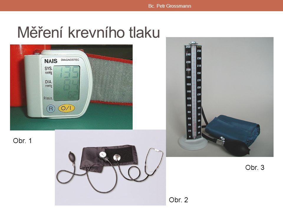 Měření krevního tlaku Bc. Petr Grossmann Obr. 1 Obr. 2 Obr. 3