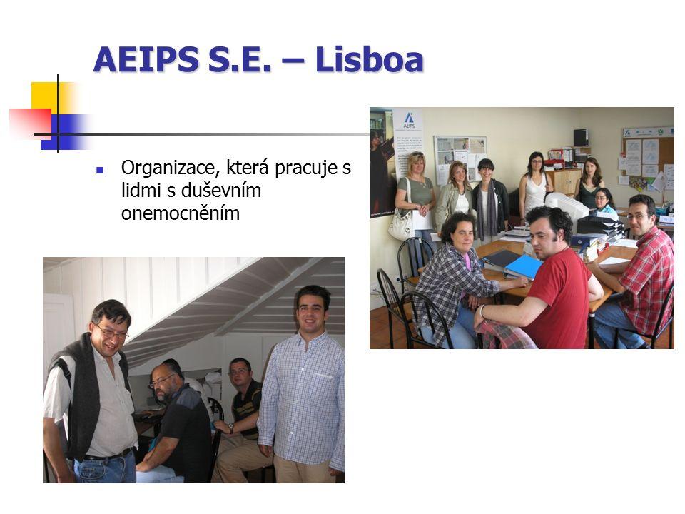 AEIPS S.E. – Lisboa Organizace, která pracuje s lidmi s duševním onemocněním