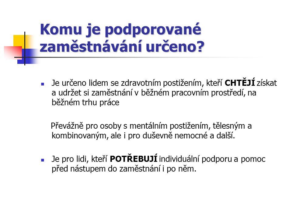 Pracovní rehabilitace Zákon o zaměstnanosti č.435/2004 Sb.