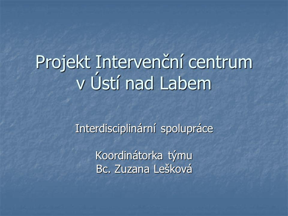 Projekt Intervenční centrum v Ústí nad Labem Interdisciplinární spolupráce Koordinátorka týmu Bc.