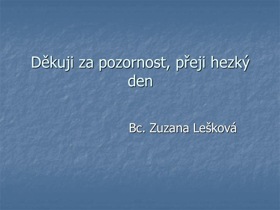 Děkuji za pozornost, přeji hezký den Bc. Zuzana Lešková