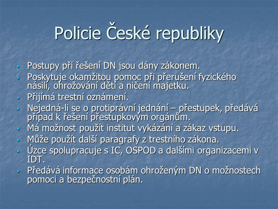 Policie České republiky  Postupy při řešení DN jsou dány zákonem.